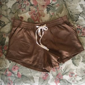 Faux Suede Shorts